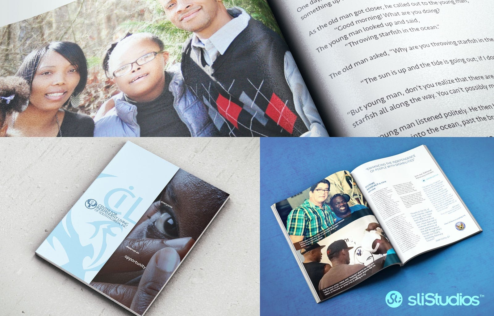 Center for Independent Living of Miami - Marketing Booklet Design - sliStudios - Miami