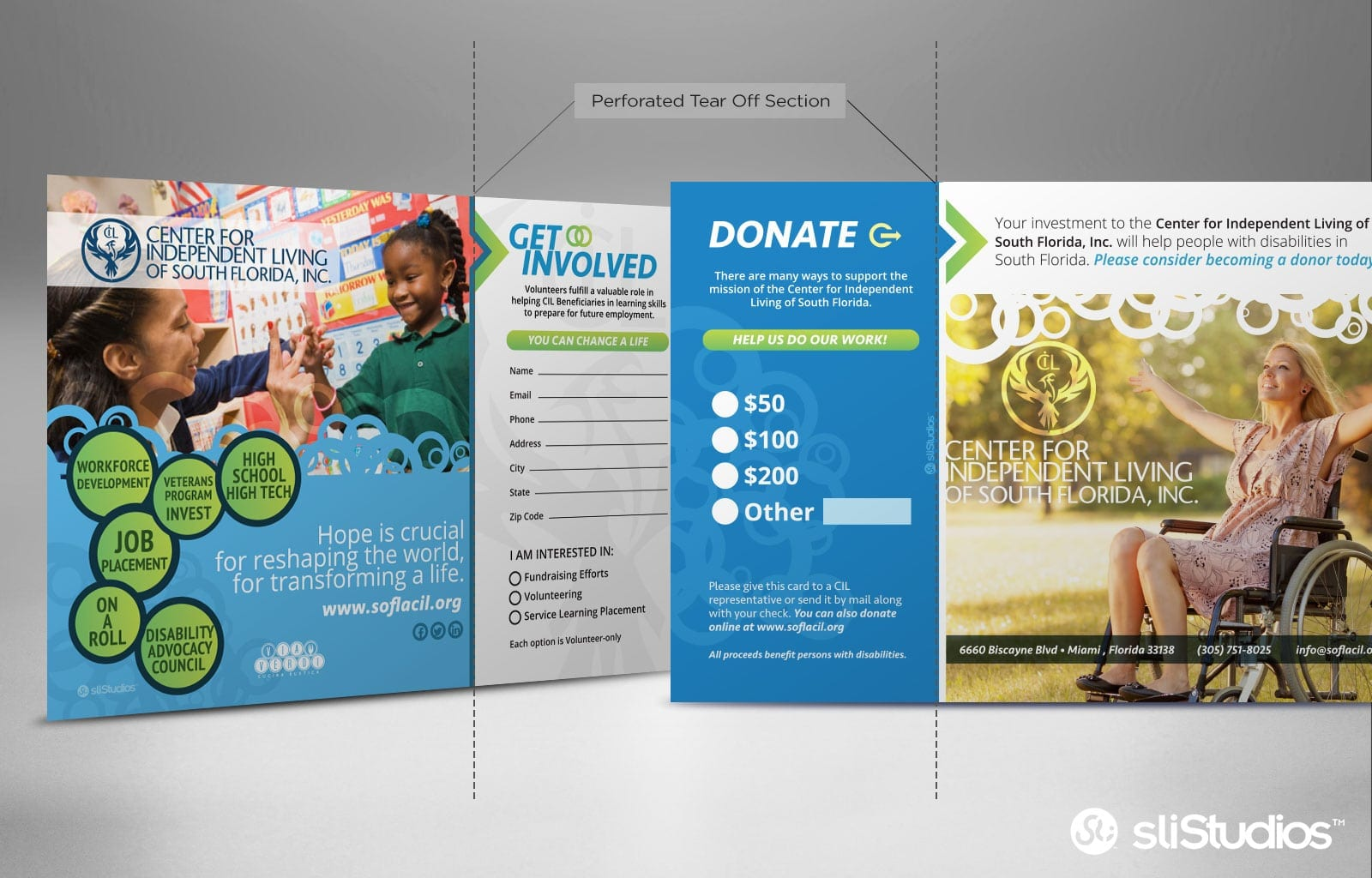 Center for Independent Living of Miami - Marketing Graphic Design - sliStudios - Miami