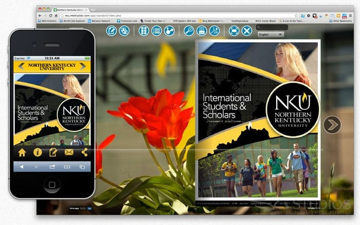 Northern Kentucky University International Student Recruiting Booklet with Interactive Web Application Development - sliStudios - Miami