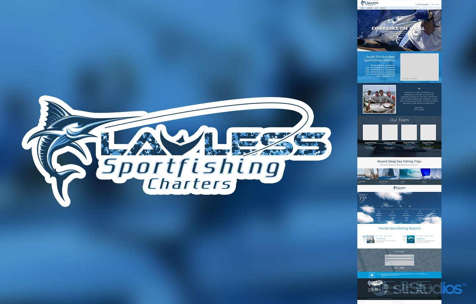 Lawless Sport Fishing Branding - Logo Design - Website Design - Social Media Design - sliStudios - Miami