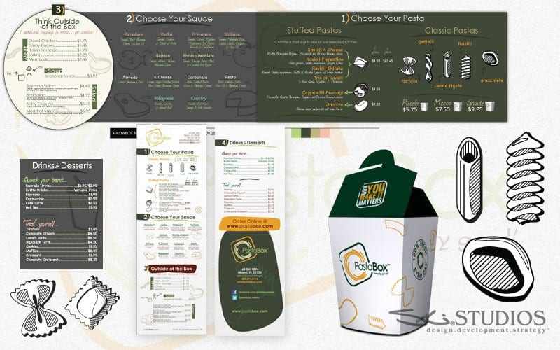 PastaBox Branding - Packaging, Signage & Uniform Design
