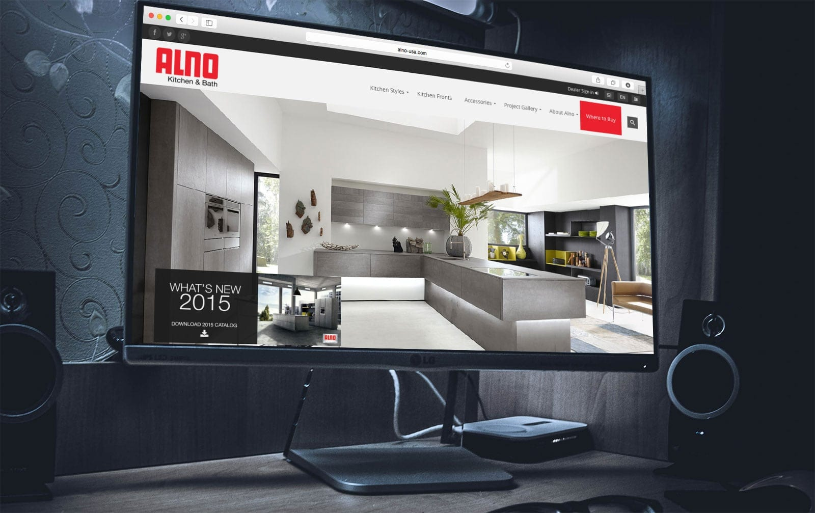 Alno Kitchens North America - Website Design - sliStudios - Miami