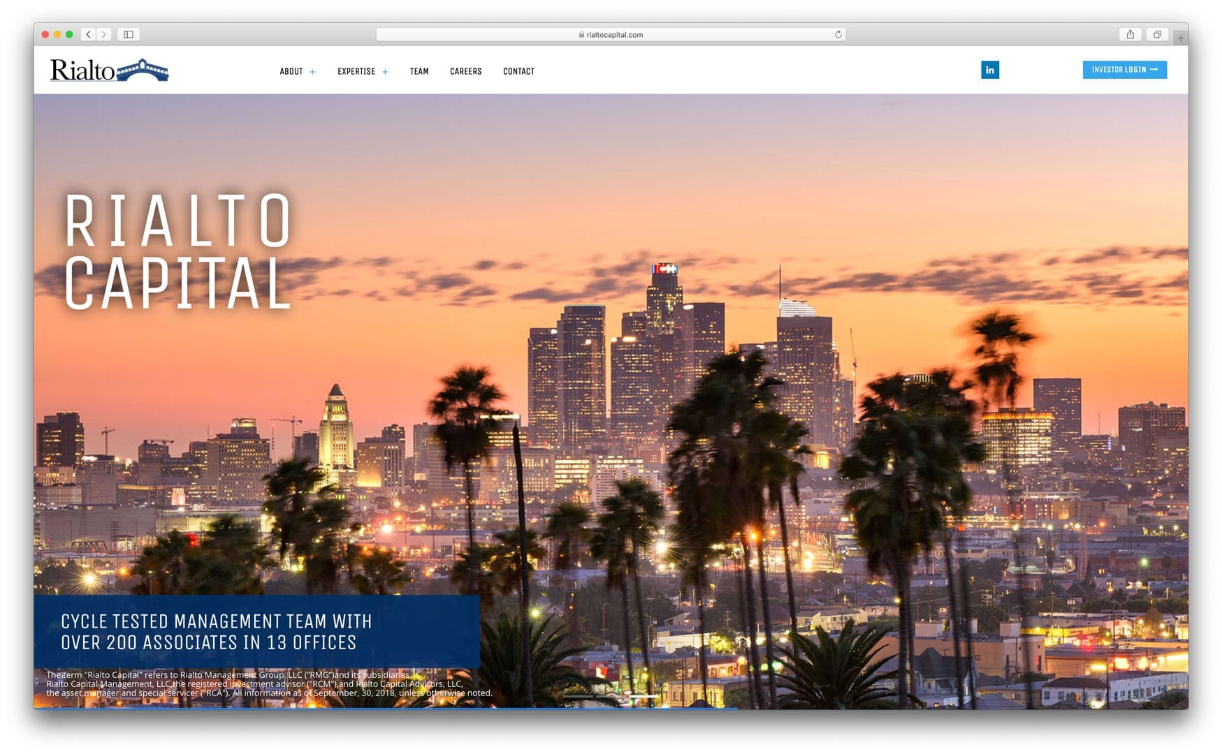 Rialto Capital - New Website Design by sliStudios
