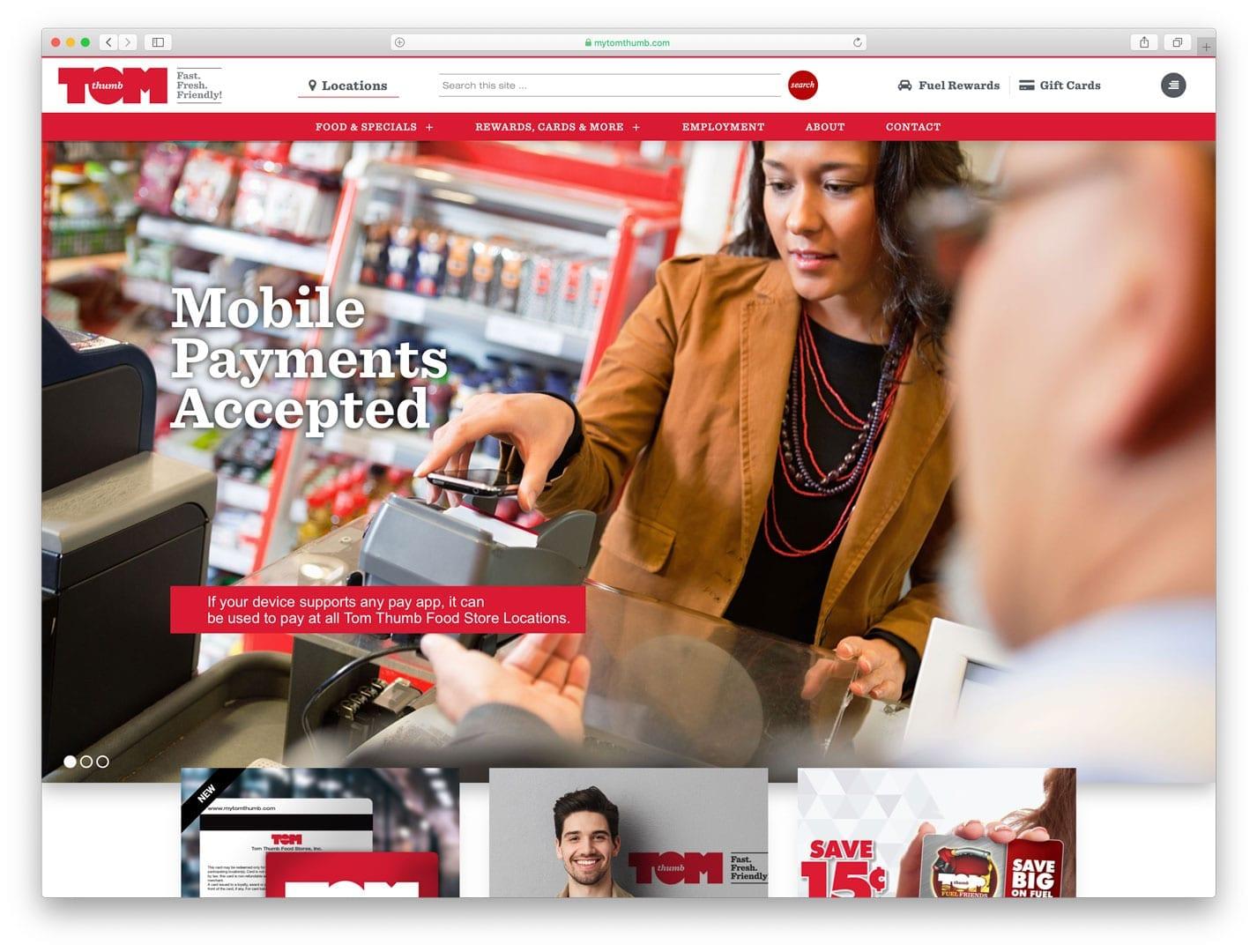 Tom Thumb Food Stores New Website Design by sliStudios Web Development, Miami Beach, FL