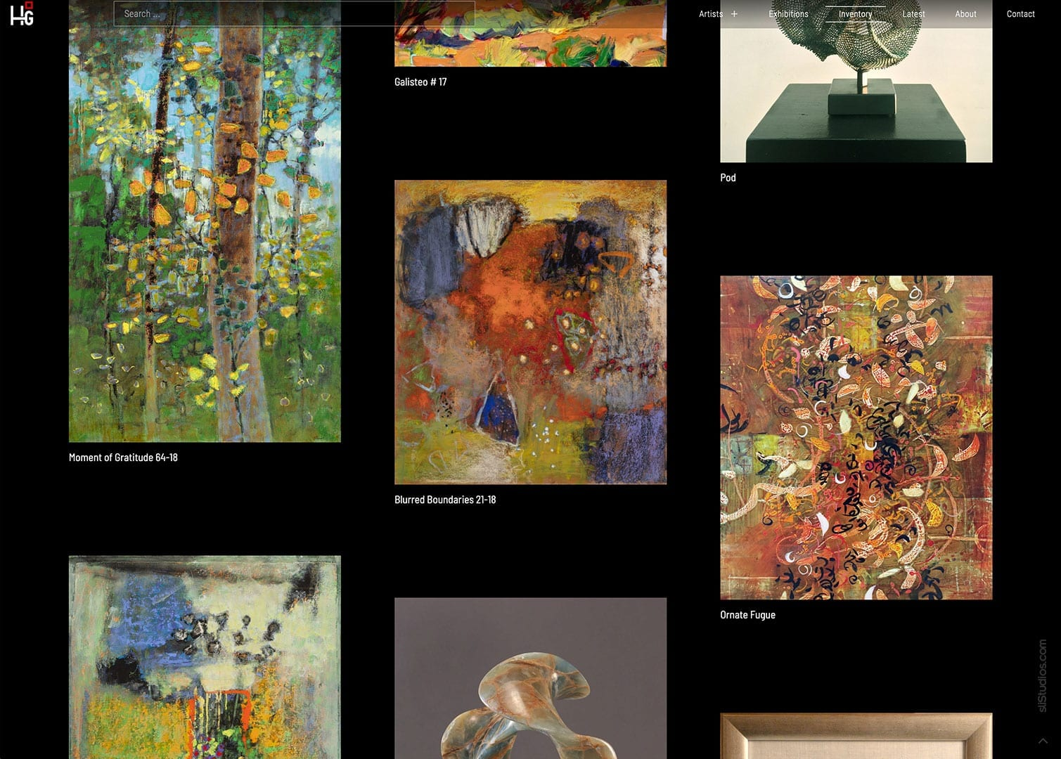Hunter Squared Gallery Website Design - Santa Fe, New Mexico - sliStudios Web Development Miami