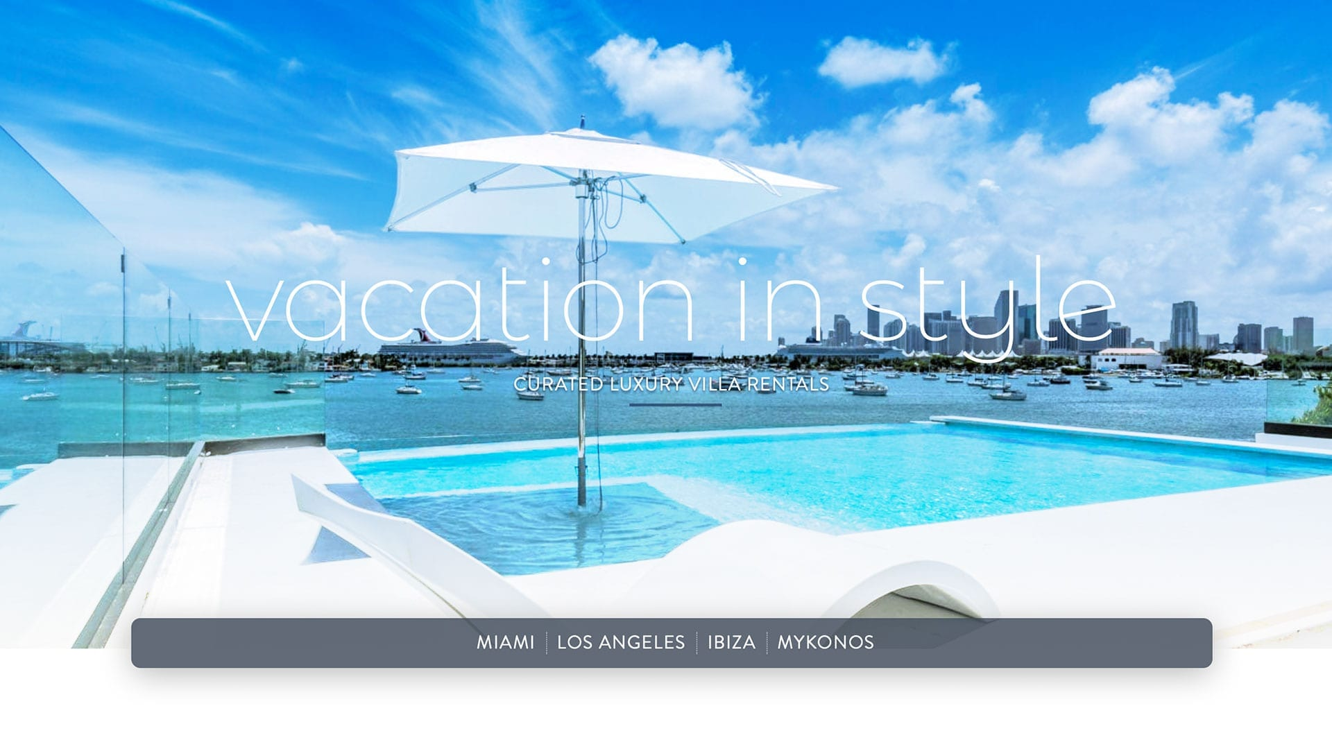NomadeVillaCollection.com - Vacation Rental Website Design - sliStudios