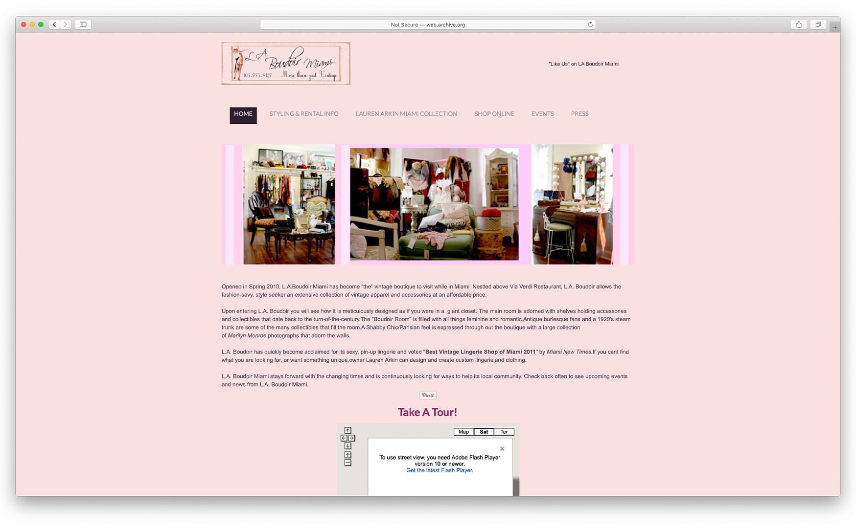 Previous Website Design - laboudoirmiami.com - Online Store Built with bizProWeb | Miami