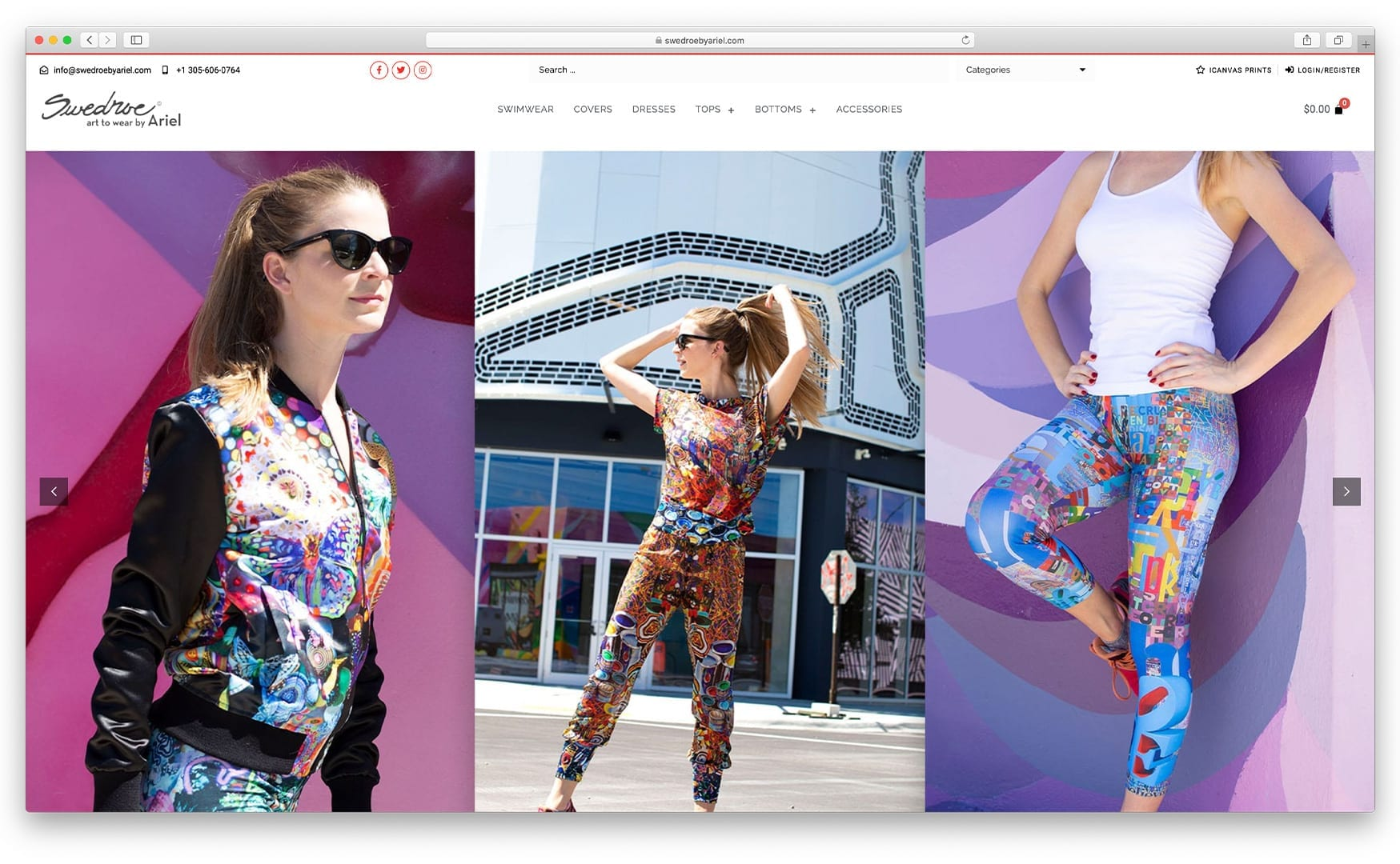 Swedroe by Ariel - Online Store built with bizProWeb - Website Design by sliStudios   Miami
