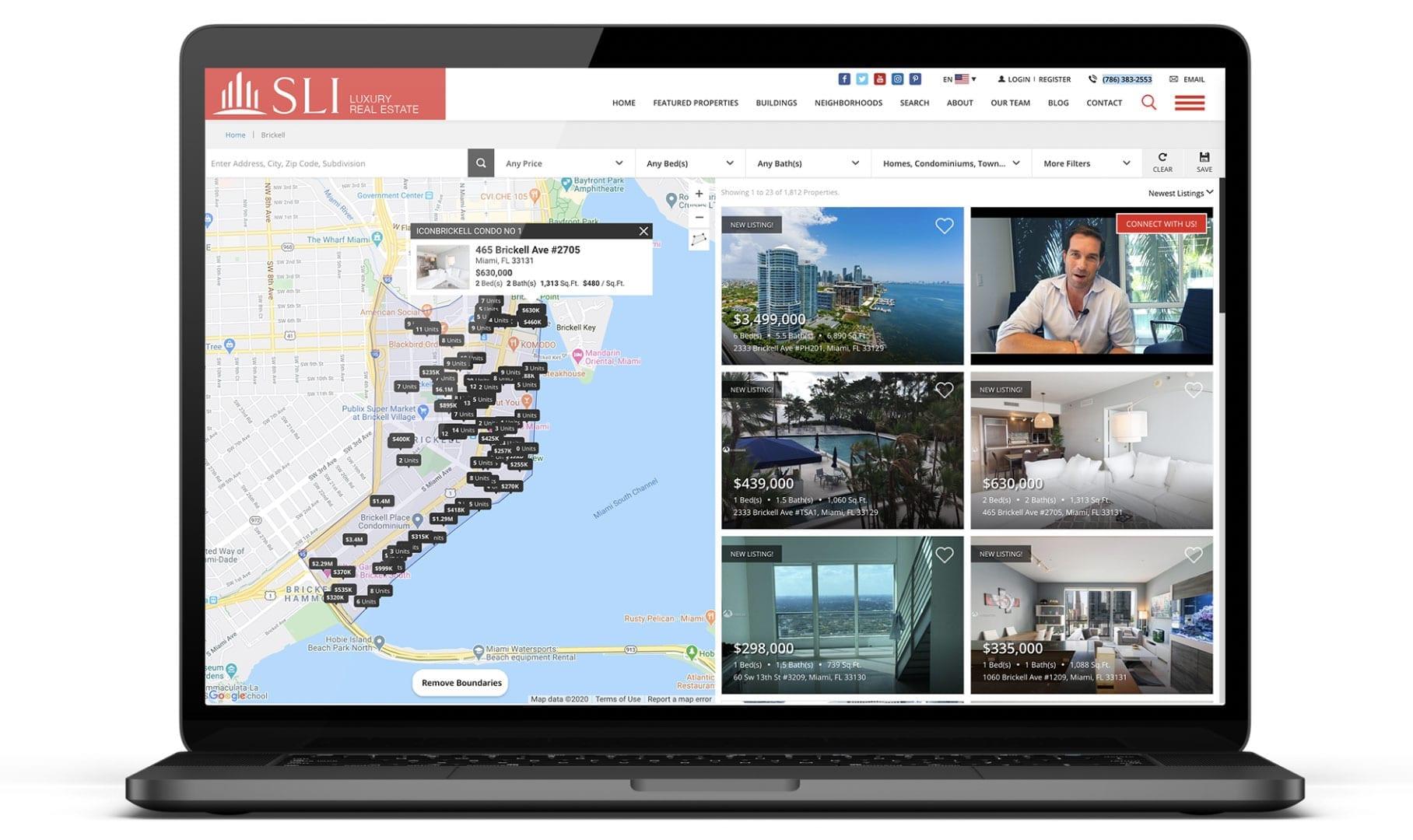 Real Estate Website Design in Miami | sliStudios Web Development