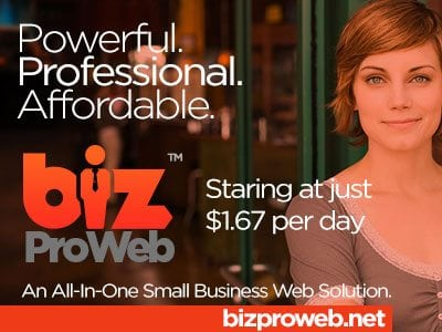 Get a new website from $1.67 per month with bizProWeb