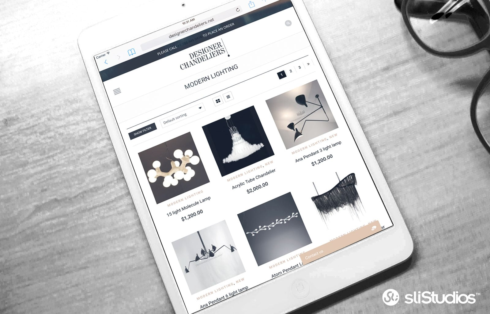 DesignerCasa mobile web design iPad - sliStudios