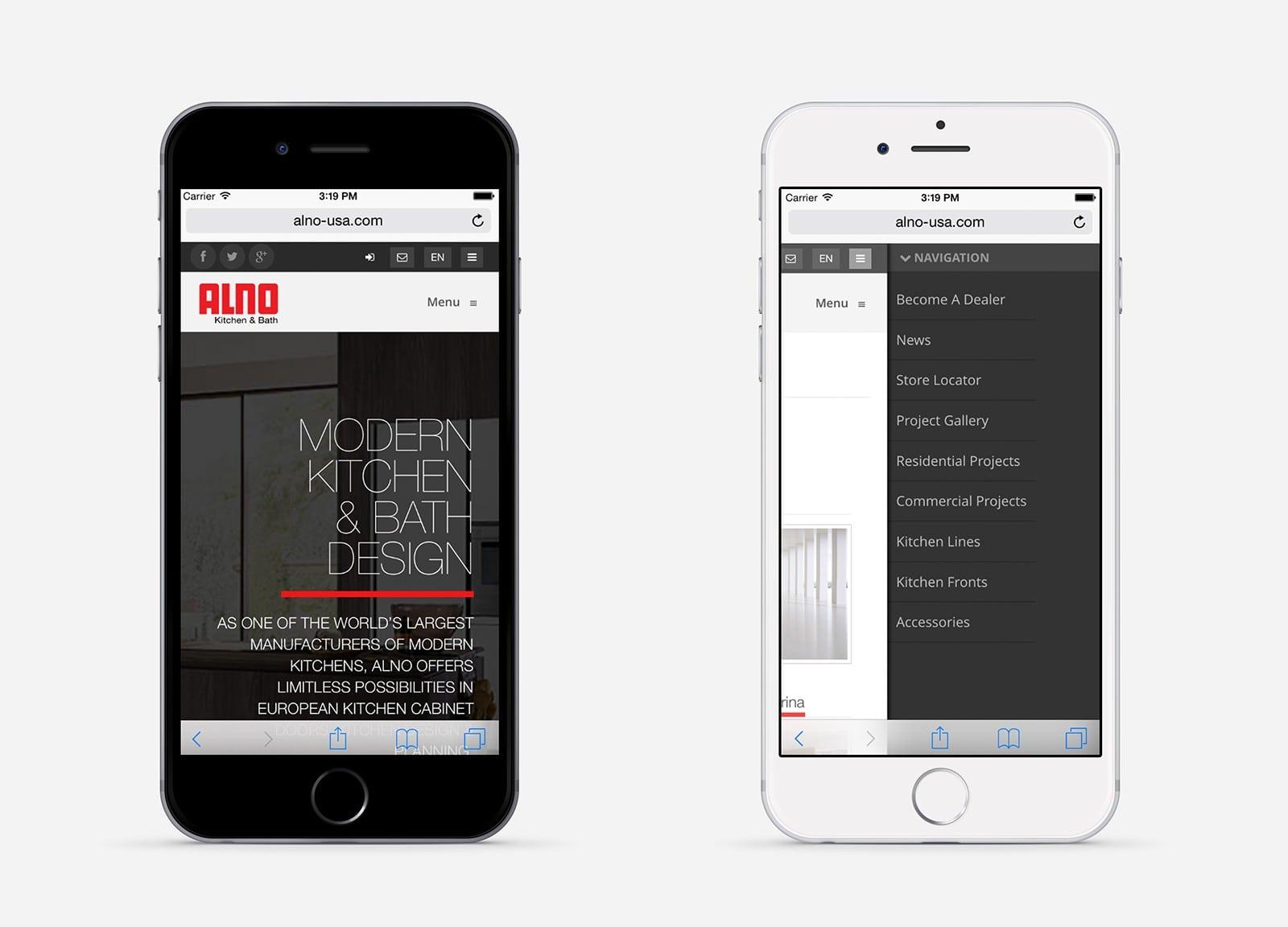 ALNO Kitchens - Mobile Version