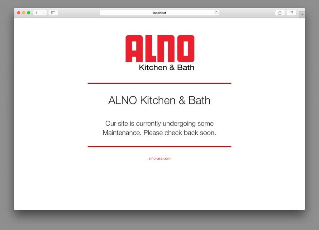 ALNO Kitchens - Coming Soon Page