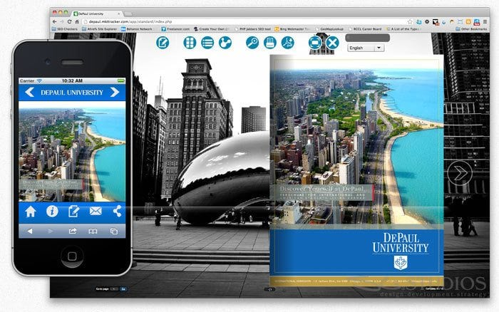 DePaul University Digital Brochure Design - sliStudios
