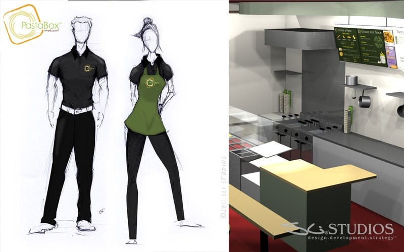PastaBox - Uniform and Kitchen Design
