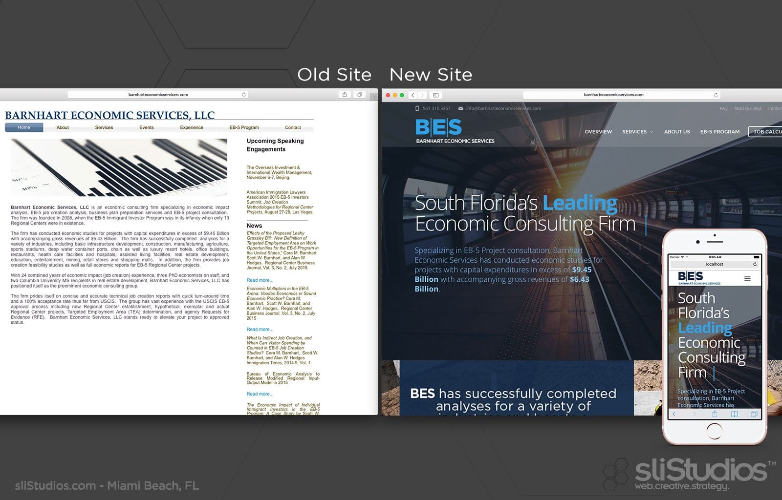 Barnhart Economic Services web re-design - sliStudios
