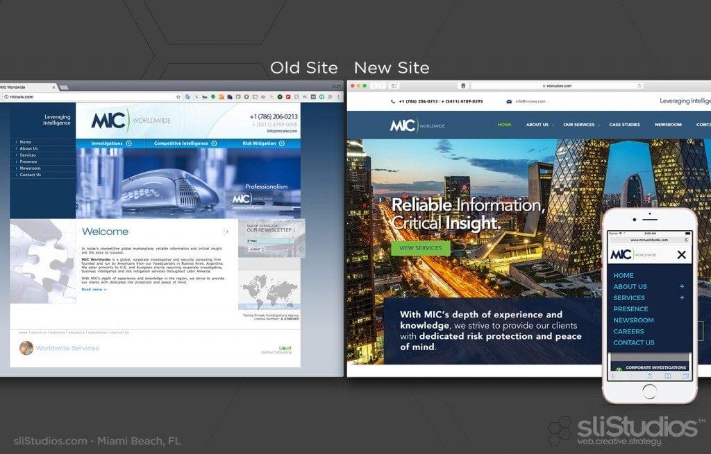 MIC Worldwide Web re-design - sliStudios