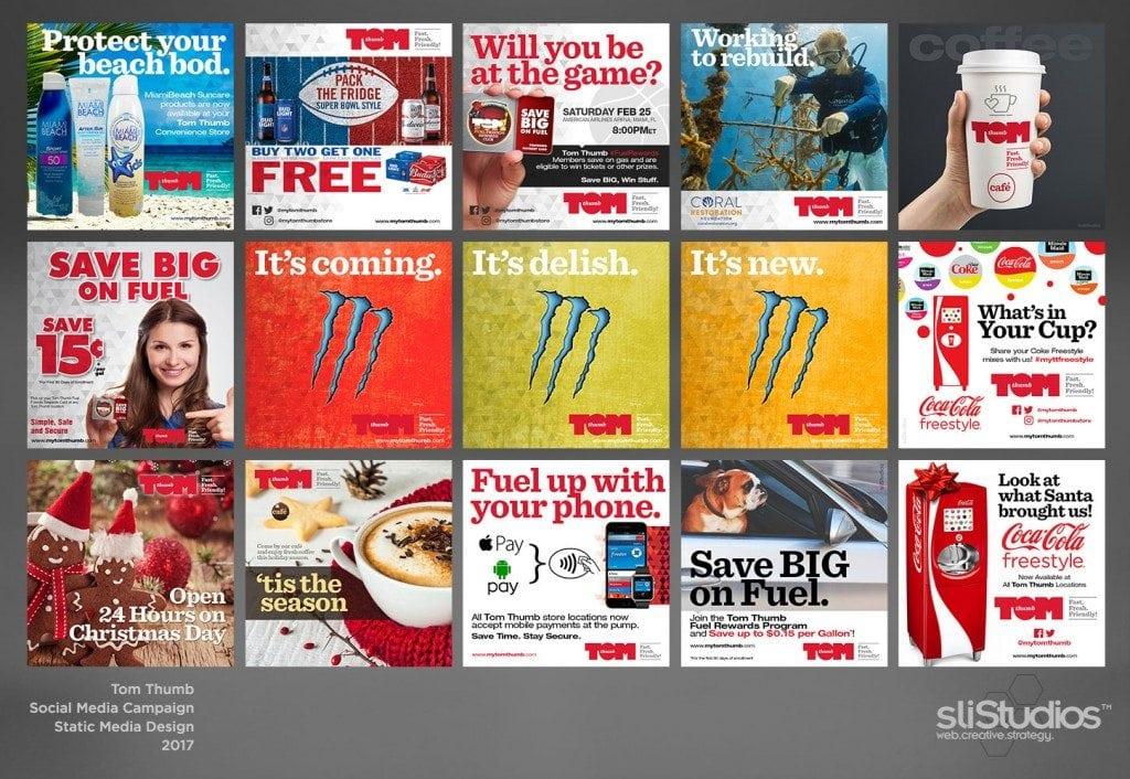 Tom Thumb Food Stores Social Media Campaign - sliStudios