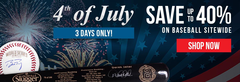 4th of July baseball sale