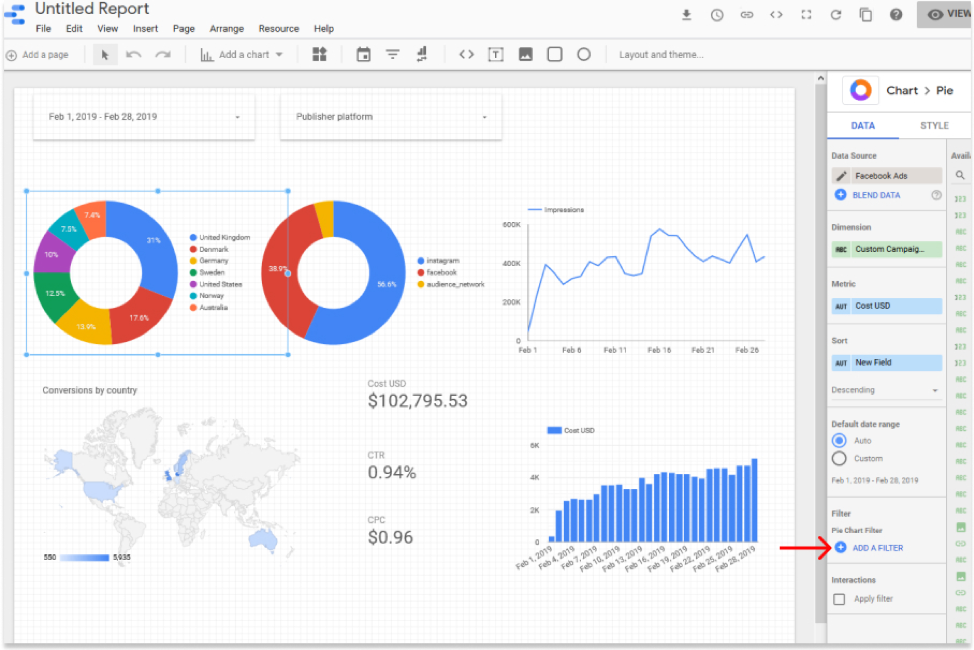 Build marketing reporting and analytics dashboards in Google Data Studio