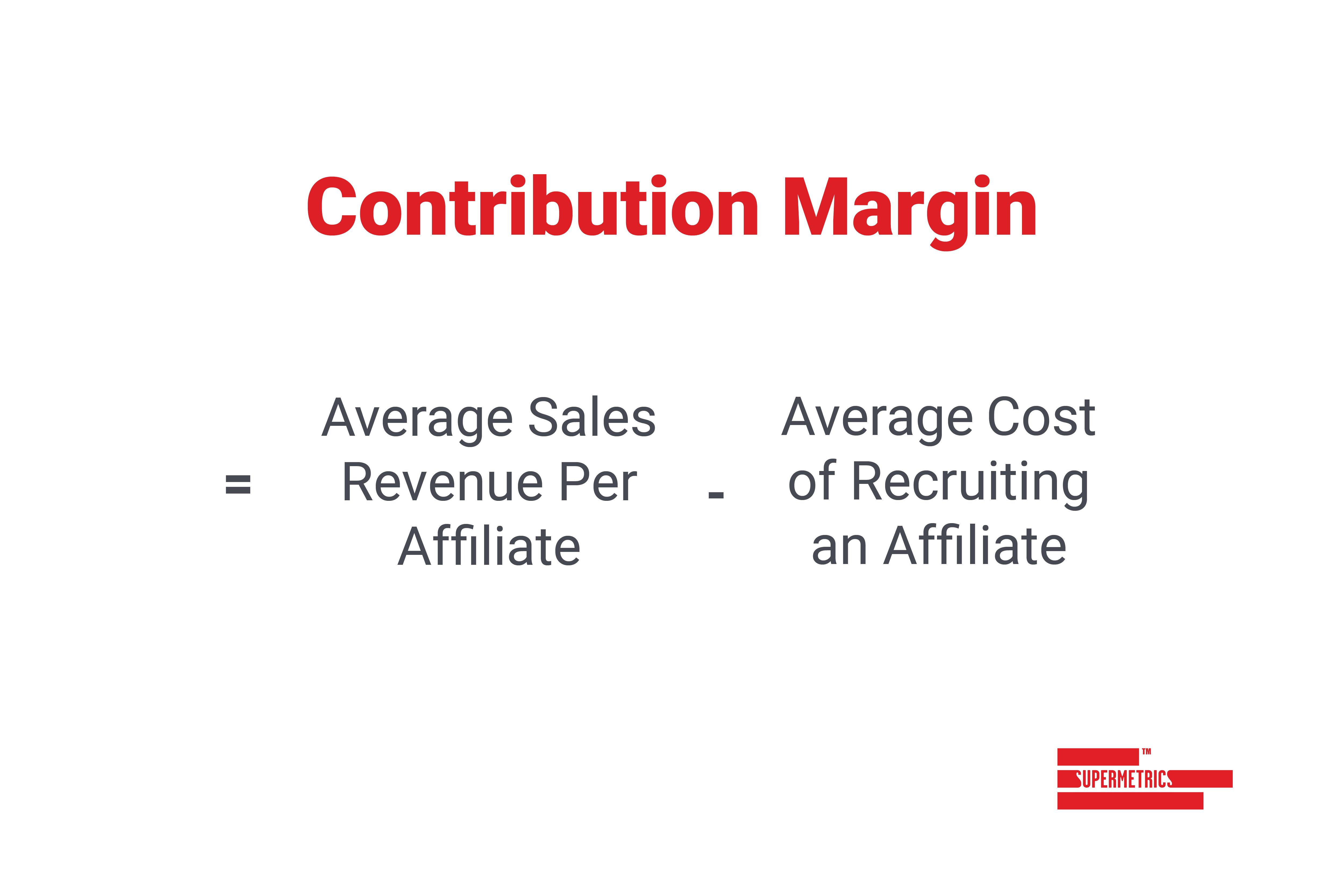 formula for contribution margin