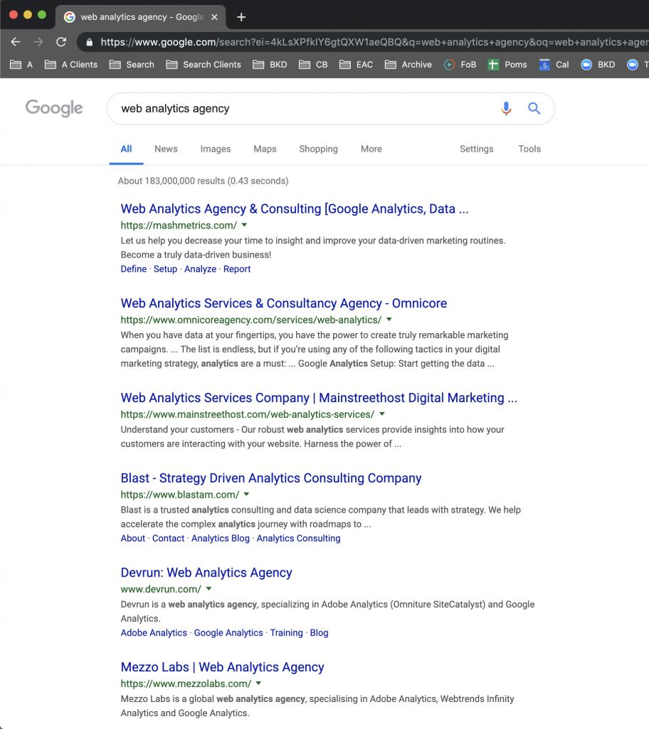 Web analytics agency #1