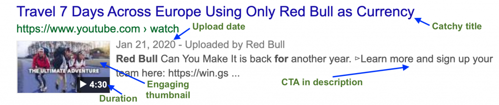 red bull rich snippets