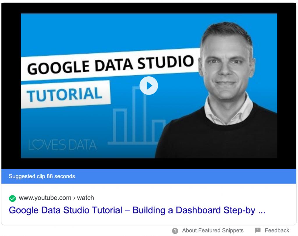 suggested clip for google data studio tutorial