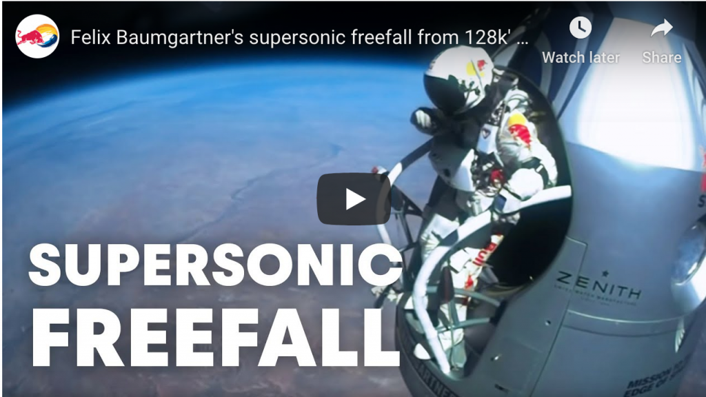 red bull supersonic freefall video