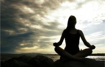 Ggscwoman meditating