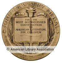Newbery award icon on ala