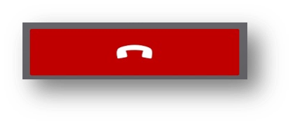 Red call hang up button - Image opens in full resolution in a new tab