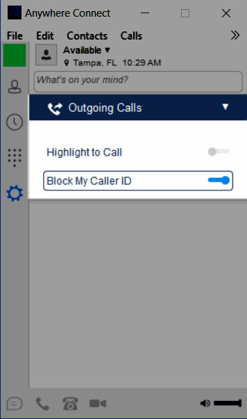 Block my caller ID turned on - Image opens in full resolution in a new tab
