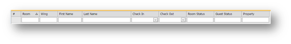 Filter by criteria window is shown of the Hospitality Portal - Image opens in full resolution in a new tab