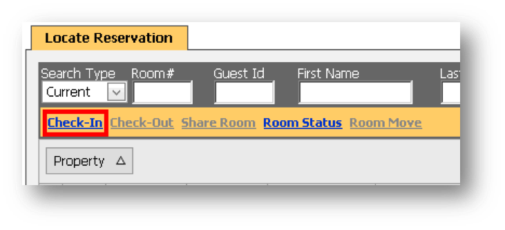 Locate Reservation window is shown of the Hospitality Portal - Image opens in full resolution in a new tab