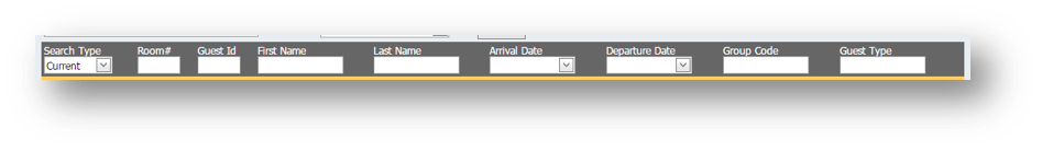 Search Criteria fields of the Hospitality Portal with Search Type, Room Number, Name, Arrival Date, Departure Date and Guest Type is shown - Image opens in full resolution in a new tab