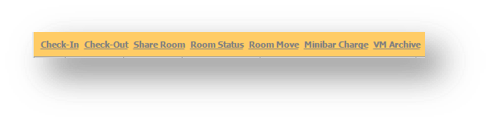 Function Bar of the Hospitality Portal is shown - Image opens in full resolution in a new tab