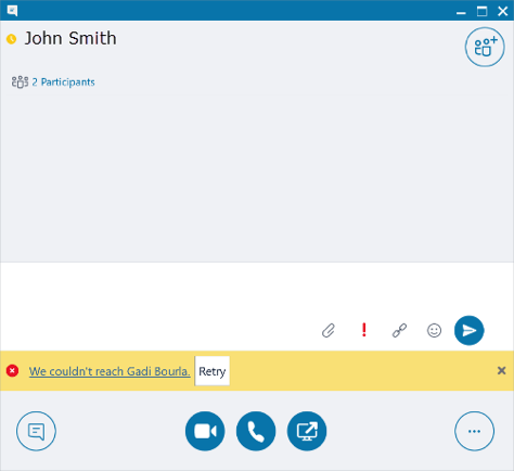 Skype for business popup with Calling window - Image opens in full resolution in a new tab