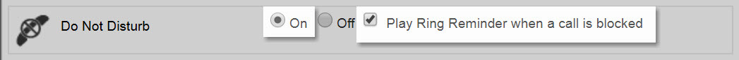 Call Waiting option in the End User Portal showing with the One radio button highlighted. - Image opens in full resolution in a new tab