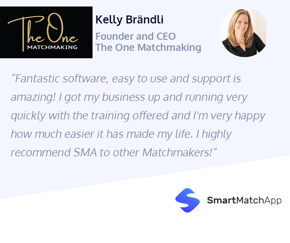 Lovely Testimonial by Kelly Brändli, Founder and CEO at The One Matchmaking