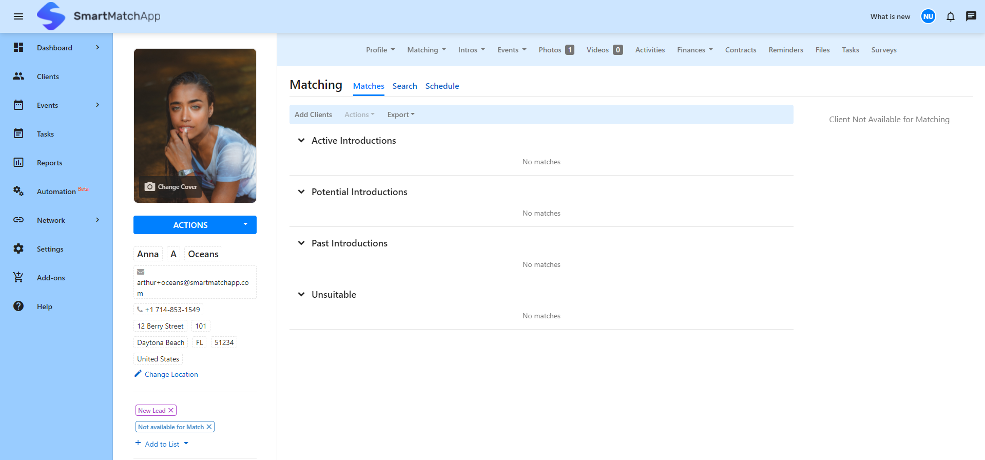 New features to increase efficiency and automate client matching process