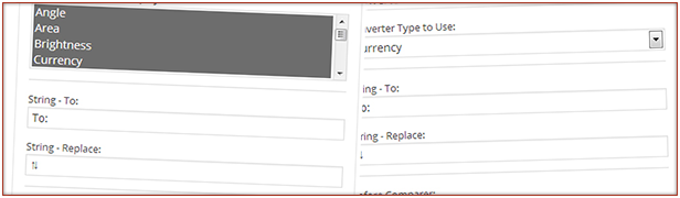 Two widgets to add single or drop down selection of conversion types