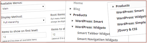 IV1CIIU. Hoved Root Blog Produkter Proda, CT5 WordPress Smart Full Hierarki Ooy Wordpress. WordPress Wdget Elementer viser første Elementer Widgets simplel jQuery CSS LQave viser olje ooiIoOle Rems. Smart Navigation Widg5