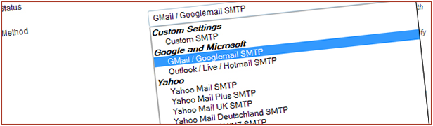 Direct support for different SMTP Servers