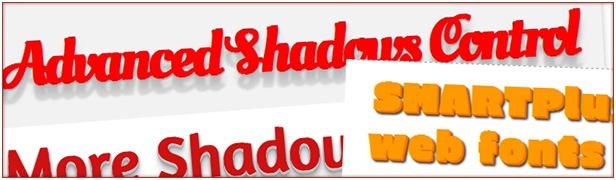 Edit text and box shadows with many included shadows examples