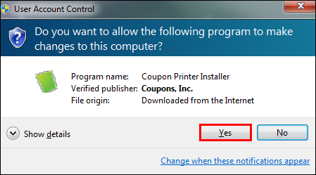 I am unable to install the coupon printer on Coupons.com