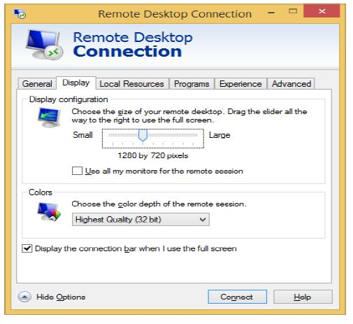 Remote Desktop Connection in Windows - Abacus Private Cloud