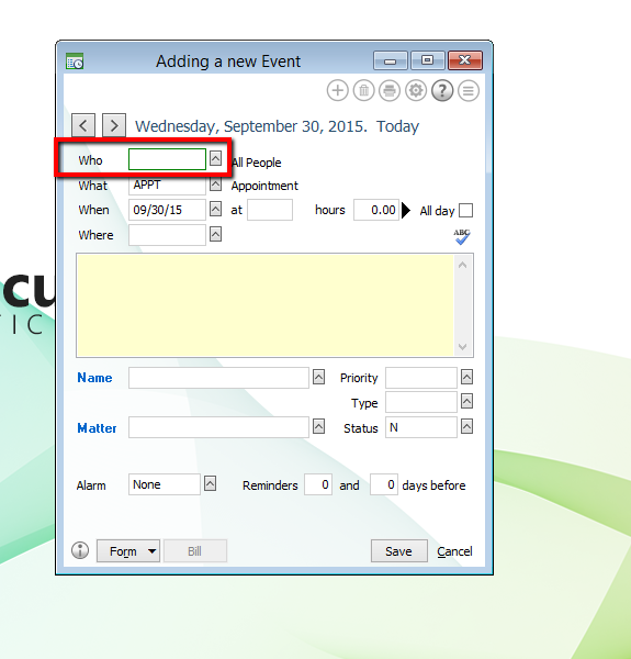 How To Fill Out A New Event For Your Abacuslaw Calendar Abacuslaw