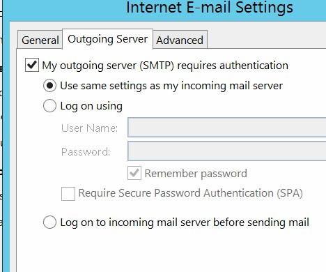 Manually Configure Gmail Account in Outlook Client - Abacus