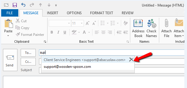 How to Delete an Auto-filling Email Address in Outlook